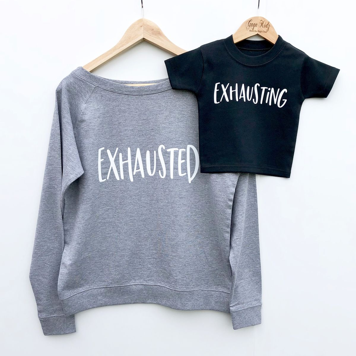 'Exhausting' Black & White Kids T-Shirt (various sizes) - product images  of