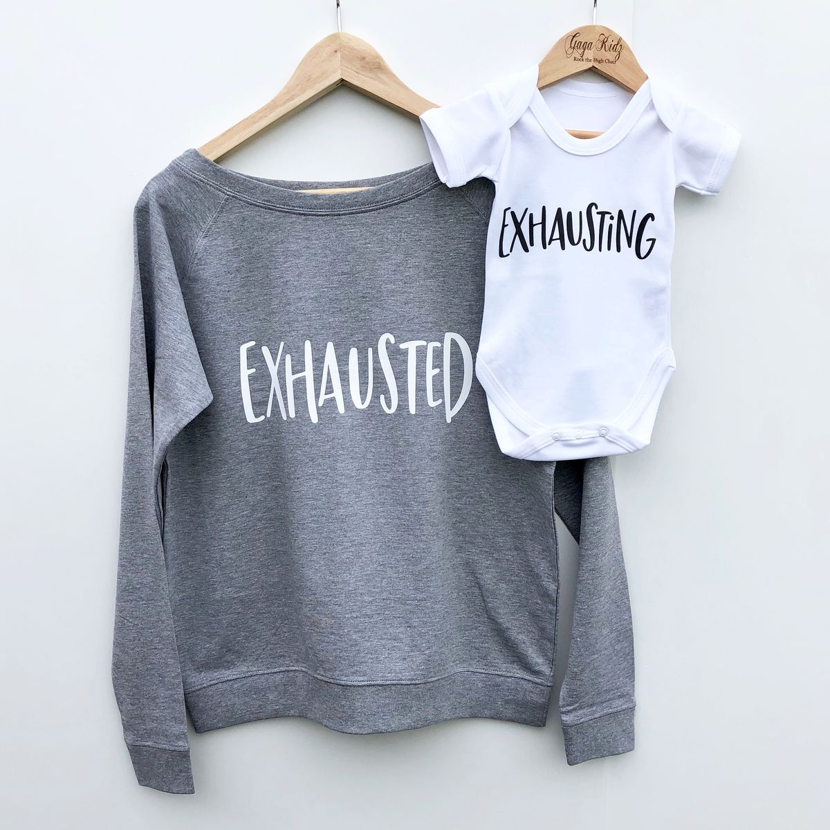 'Exhausting' Black & White Bodysuits (various sizes)  - product images  of