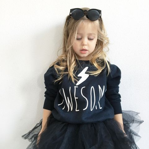'Awesome',Kids,Sweatshirt,with,Lightning,Bolt,(various,sizes),awesome kids sweatshirt, kids super hero sweater, baby superhero jumper, awesome top, baby clothes, kids clothes, cool toddler clothes, cool kid clothes, super kid sweatshirt