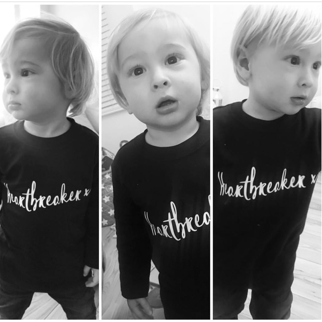Heartbreaker Black & White Kids T-Shirts (various sizes) - product images  of