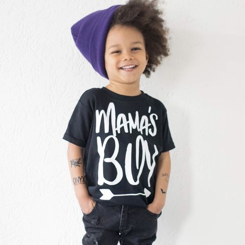 Mama's,Boy,Black,&,White,Kids,T-Shirts,(various,sizes),mama's boy, mummys boy, mothers day gift, valentines gift, kids tshirt, baby tee, uk baby t-shirts, cool baby tees, cotton baby t-shirt, funny baby tee, cute baby clothes, funny baby clothes