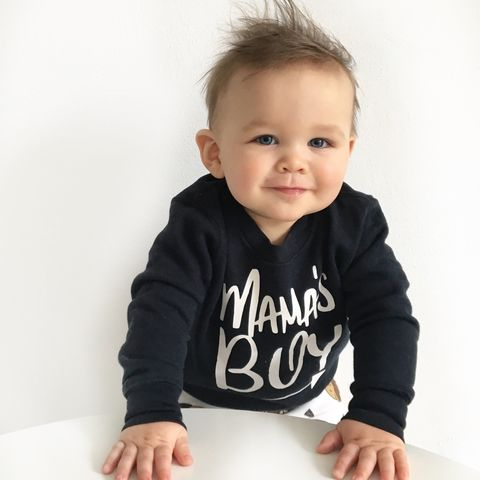 'Mama's,Boy',Kids,Sweatshirt,(various,sizes),mama's boy, mummy boy, mommy and me, cute kids sweatshirt, funny kids sweater, baby jumper, valentines day gift, gift for him, gift for her, mothers day gift, popular kids clothes, trendy kids jumper, funny baby top, baby clothes, kids clothes, cool toddl