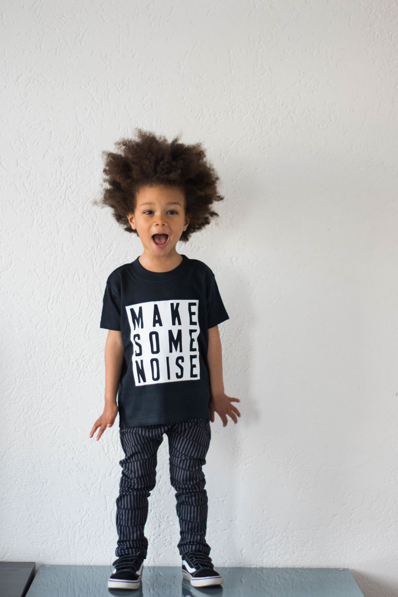 Make Some Noise White & Black Kids TShirts (various sizes) - product images  of