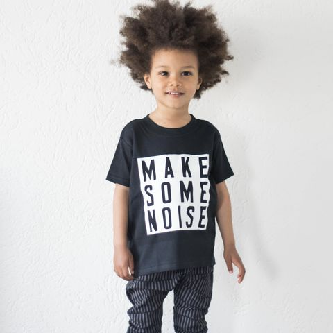 Make,Some,Noise,White,&,Black,Kids,TShirts,(various,sizes),make some noise baby tee, make some noise baby t-shirt, make some noise kids tees, make some noise kids top, baby t-shirt, cotton baby t-shirt, funny baby tee, cute baby clothes, funny baby clothes, unique baby gifts, toddler tees, toddler tshirt