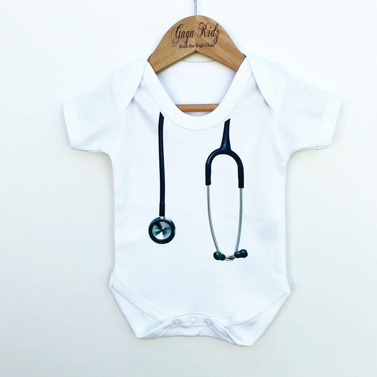 f3bc6cdf7390f Stethoscope Doctor Nurse Baby/Toddler Bodysuit (various sizes ...