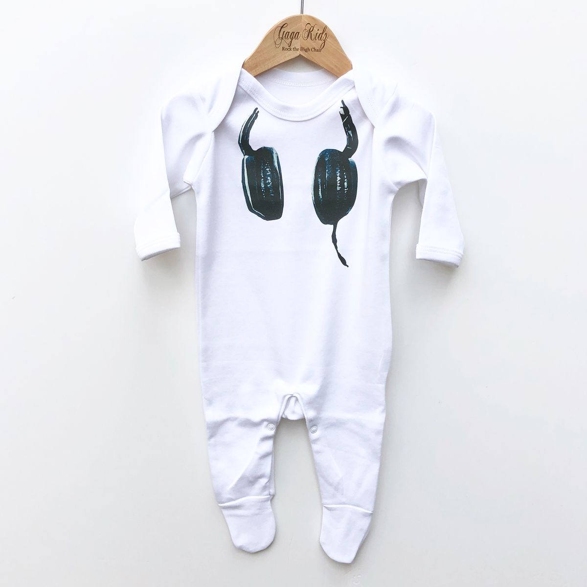 DJ Headphones Baby Romper Suit (various sizes) - product images  of