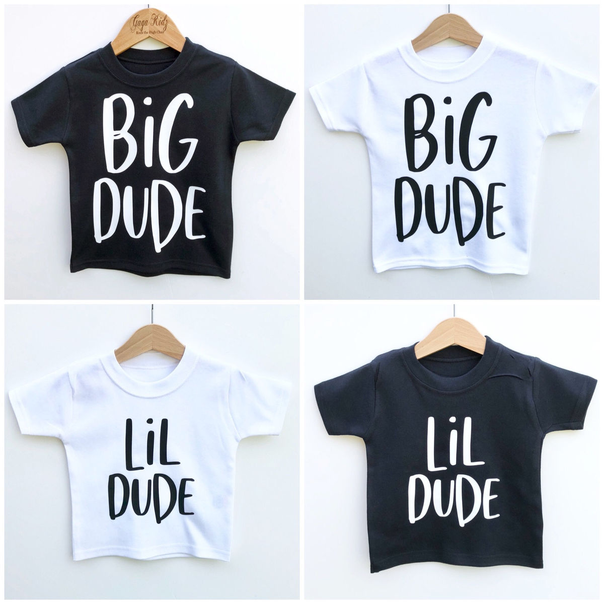 Big Dude Black & White T-Shirt (various sizes) - product images  of