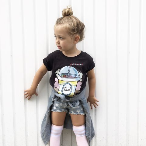 Milkshake,Cool,Kids,Black,T-Shirt,(various,sizes),milkshake tshirt, cool kids shirt, milkshake, milkshake baby, clothes for kids, kids tshirt, baby tee, baby t-shirts, cool baby tees, cotton baby t-shirt, funny baby tee, cute baby clothes, funny baby clothes