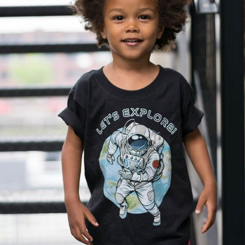 Spaceman,Black,or,White,T-Shirt,spaceman tshirt, cool kids shirt, little explorer, let's explore, outer space, science shirt, galaxy shirt, astronaut shirt, clothes for kids, kids tshirt, baby tee, baby t-shirts, cool baby tees, cotton baby t-shirt, funny baby tee, cute baby clothes