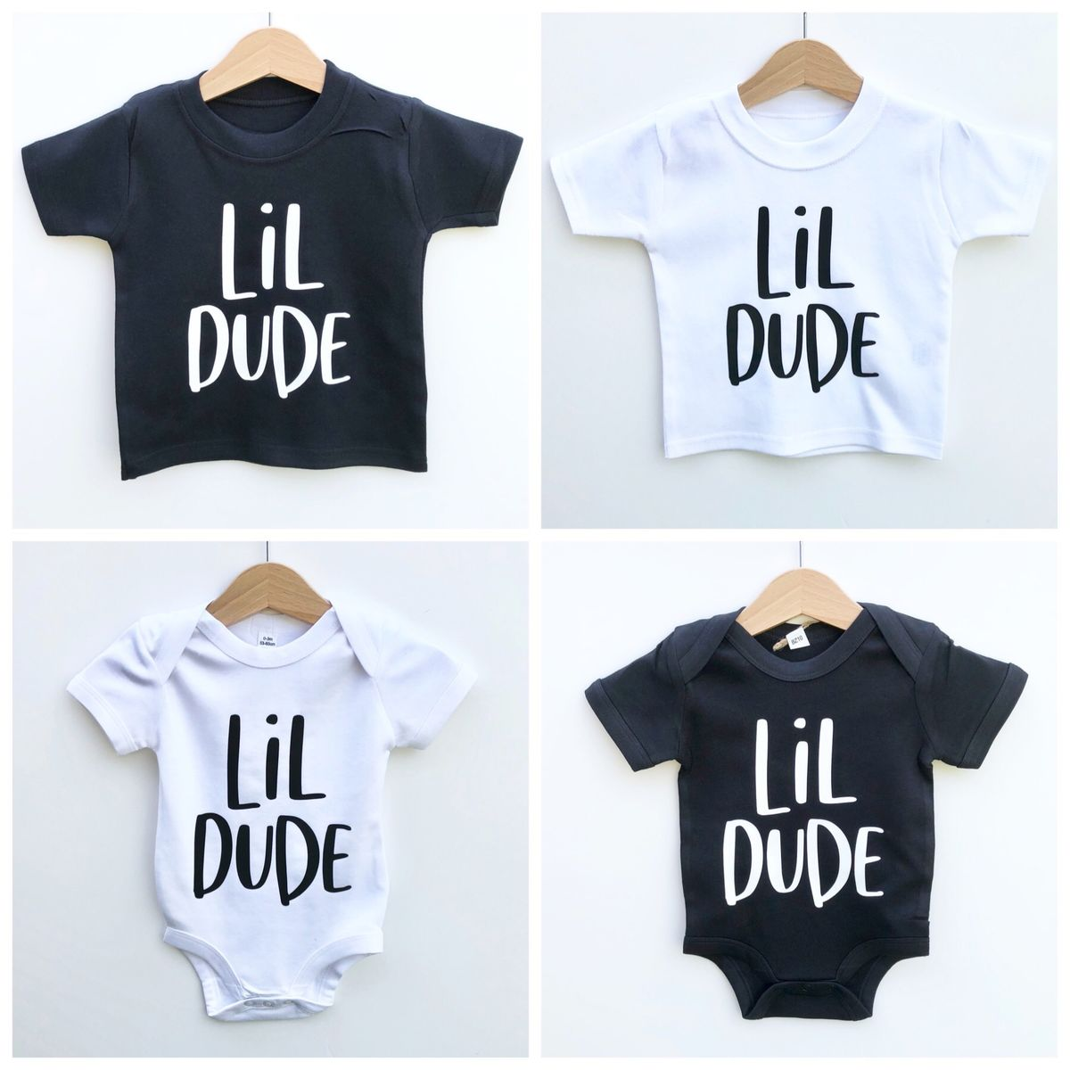 Lil Dude Black & White T-Shirt or Bodysuit (various sizes) - product images  of