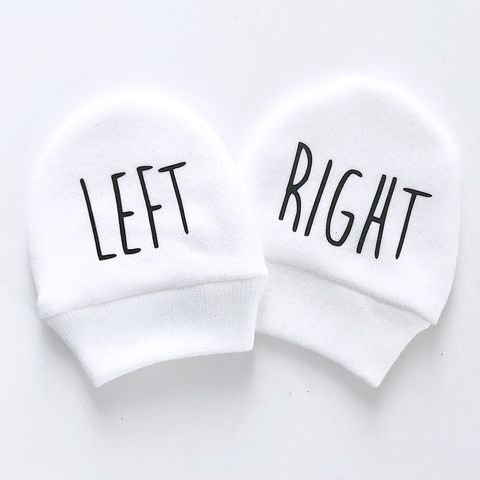 Left/Right,Scratch,Mittens,left and right, funny baby gift, baby mittens, scratch mittens, baby mitts, scratch mitts, baby gloves, newborn mittens, no scratch, Baby Accessories, baby shower gift