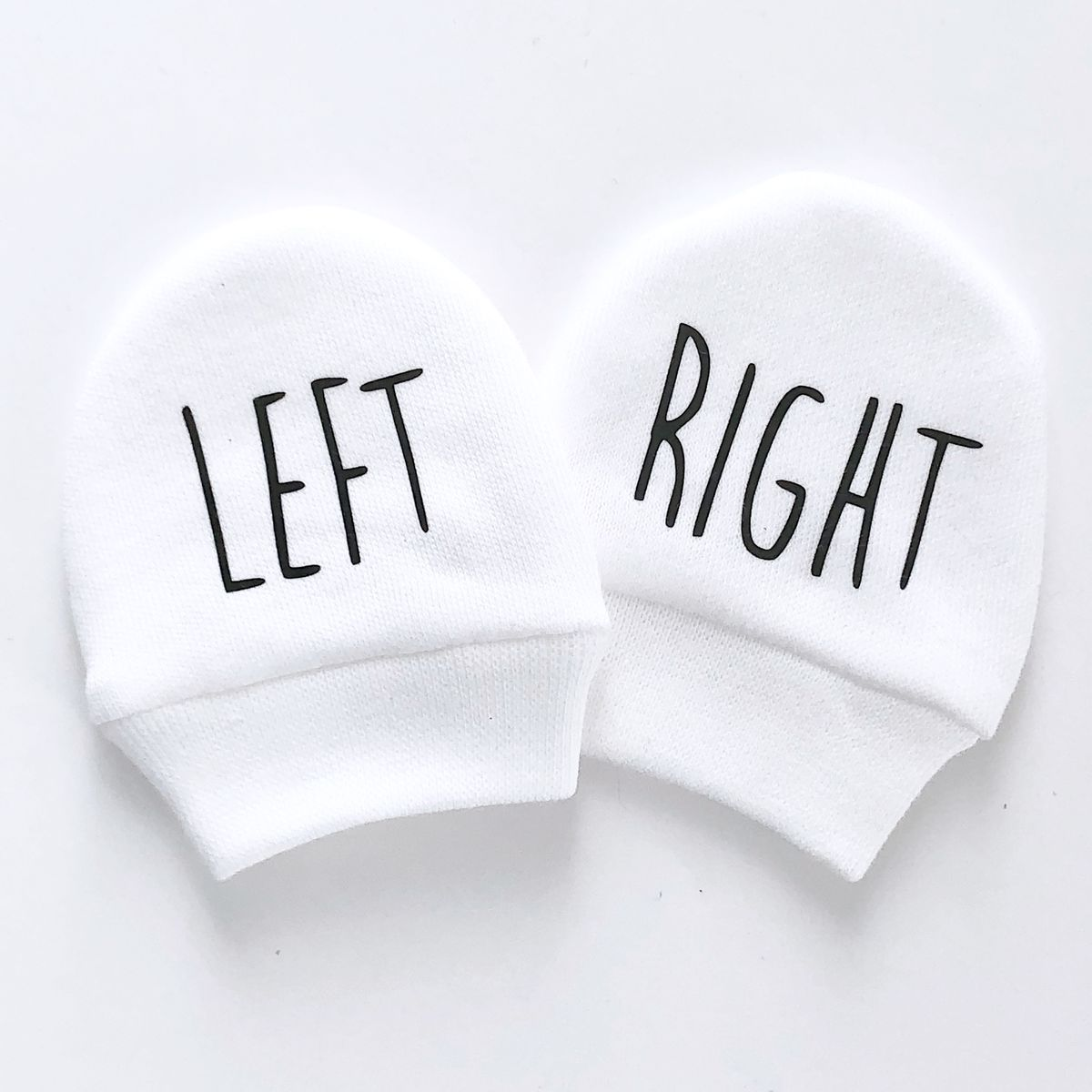 Left & Righ Baby Scratch Mittens - product images  of