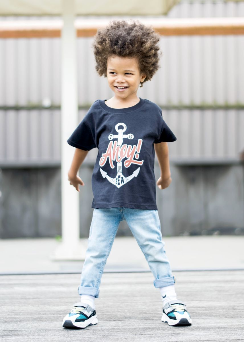 Ahoy! Black & White Kids T-Shirt (various sizes) - product images  of
