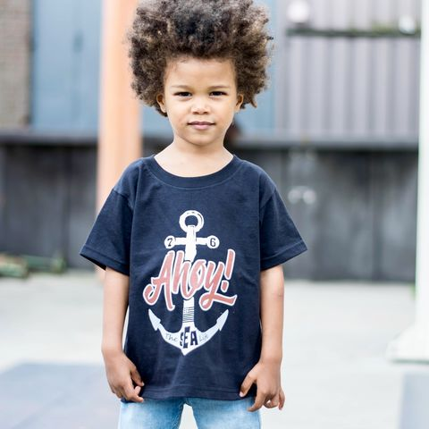 Ahoy!,Black,&,White,Kids,T-Shirt,(various,sizes),anchor tshirt, cool kids shirt, ahoy shirt, sailor shirt, sea life shirt, life at sea, the sea life, sailing shirt, clothes for kids, kids tshirt, baby tee, baby t-shirts, cool baby tees, cotton baby t-shirt, funny baby tee, cute baby clothes, sea shirt