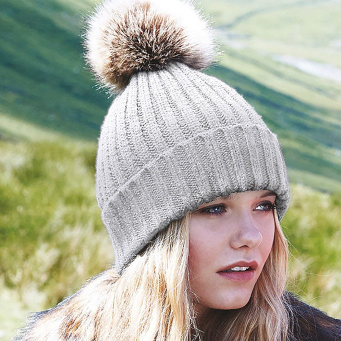 Chunky Knit Autumn/Winter Bobble Hats - product images  of