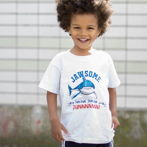 JAWSOME,Kids,T-Shirt,(various,sizes),jaws tshirt, cool kids shirt, shark shirt, jawsome shirt, sea life shirt, life at sea, the sea life, baby shark, clothes for kids, kids tshirt, baby tee, baby t-shirts, cool baby tees, cotton baby t-shirt, funny baby tee, shark bait, baby clothes