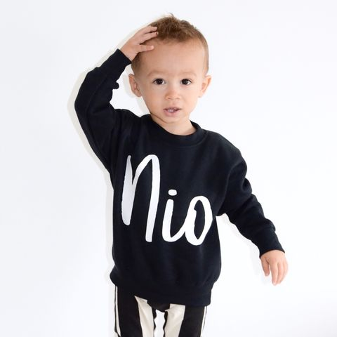 Custom,Kids,Name,Sweatshirt,(various,sizes),personalised sweater, custom sweater, custom sweatshirt, kids name clothes, name top, cool kids sweatshirt, cool jumper, funny kids sweater, popular kids clothes, trendy kids jumper, kids gifts