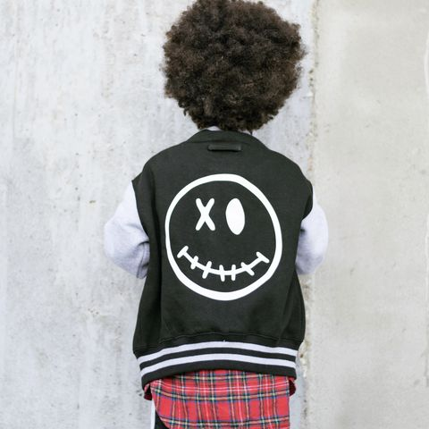 Face,Varsity,Jacket,varsity jacket, kids varsity, kids jacket, kids bomber jacket, smiley face, emoji jacket, emoji clothing, face clothing, funny kids jacket, college style kids jacket, cool kids clothes, gift for kid, halloween jacket