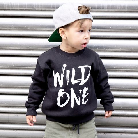 'Wild,One',Kids,Sweatshirt,(various,sizes),wild one, wild and one, kids sweatshirt, kids sweater, crew neck sweater, first birthday shirt, first birthday outfit, baby sweater, baby sweatshirt, toddler crew neck, wild child, first birthday gift