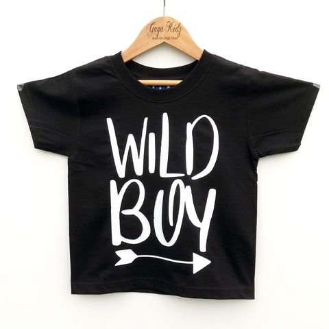 Wild,Boy,Black,or,White,T-Shirt,wild boy, wild one, wild child, wild tshirt, wild kids, wild baby, trendy baby tshirt, trendy kids tshirt, hipster kids shirt, hipster baby shirt, cool kids clothes, kids tshirt, adventure boy, outdoor t-shirt