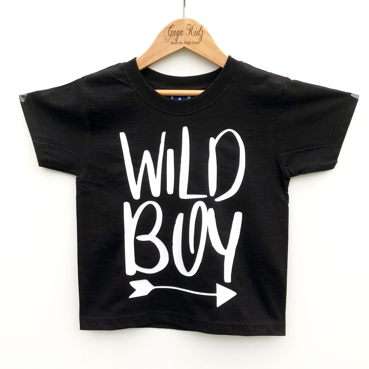 Wild Boy Black & White Kids T-Shirt (various sizes) - product image