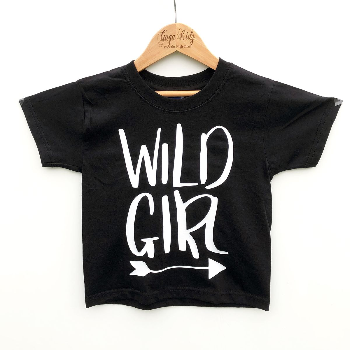 Wild Girl Black & White Kids T-Shirt (various sizes) - product image