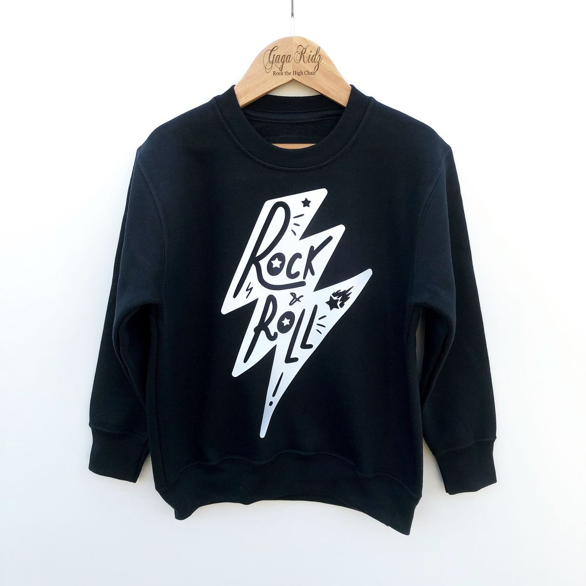 'Rock & Roll Lightning Bolt' Kids Sweatshirt (various sizes) - product images  of