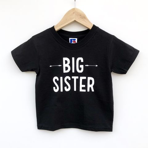 Big,Sister,Sibling,T-Shirt,(various,sizes),sibling set, big sister, big sis, sibling gift, big sister gift, older sister gift, kids clothes, sister t-shirt, bigger sister, promoted to big sister