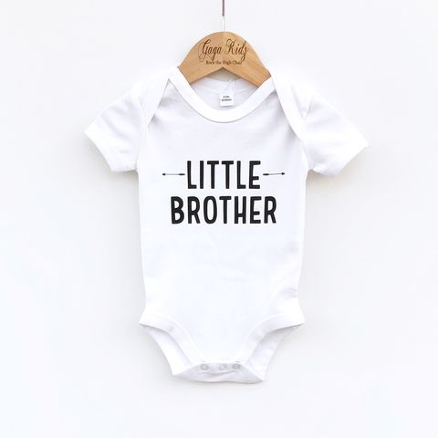 Little,Brother,T-Shirt,or,Bodysuit,sibling set, little brother, lil brother, lil bro, sibling gift, little brother gift, new baby gift, younger brother gift, kids clothes, brother t-shirt, baby brother bodysuit, brother onesie, pregnancy reveal, baby announcement