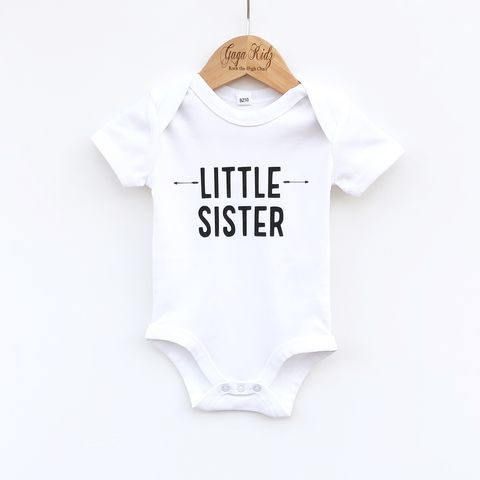 Little,Sister,Sibling,T-Shirt,or,Bodysuit,(various,sizes),sibling set, little sister, lil sister, lil sis, sibling gift, little sister gift, new baby gift, younger sister gift, kids clothes, sister t-shirt, baby sister bodysuit, brother onesie, pregnancy reveal, baby announcement