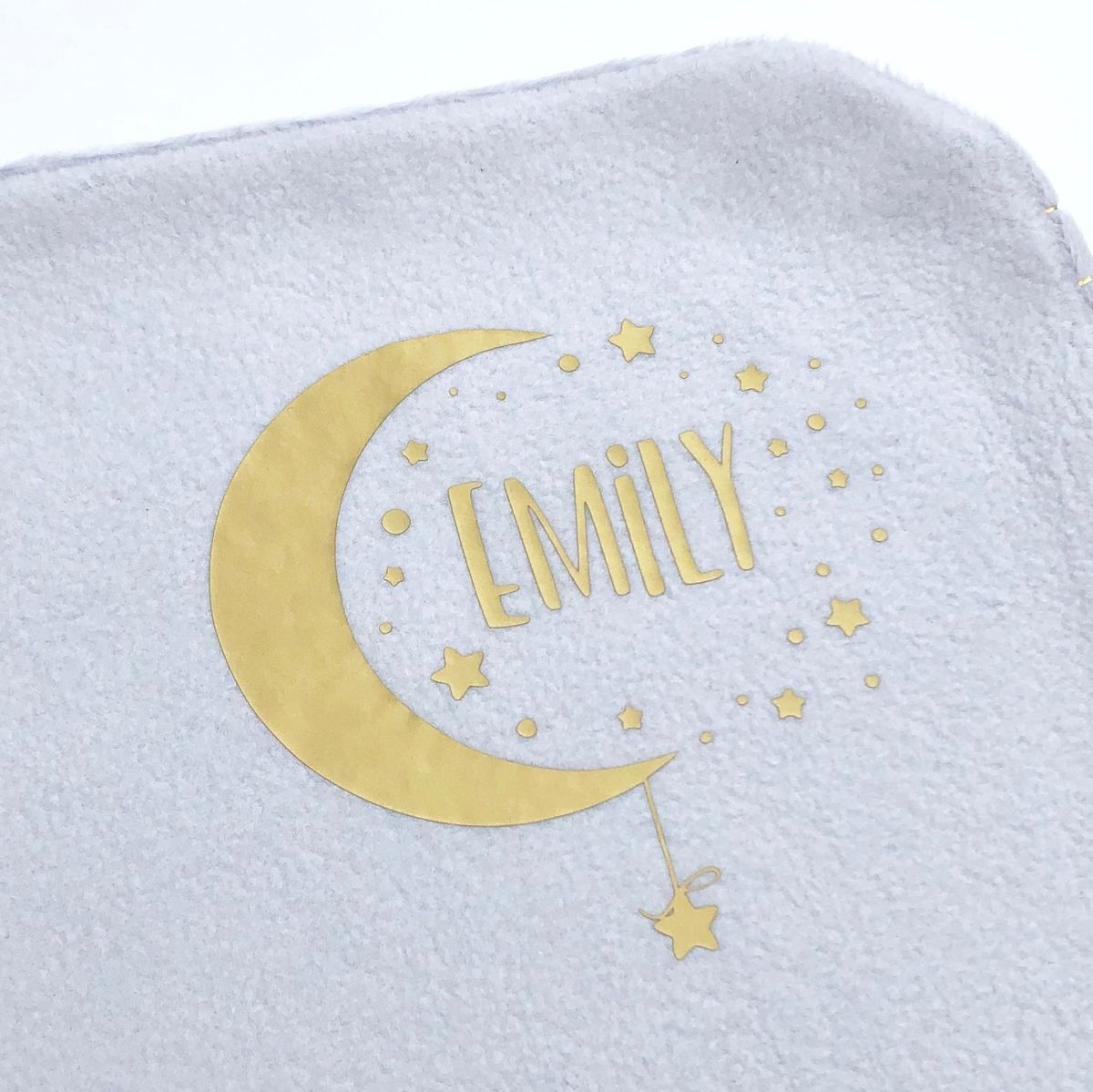 Custom 'Baby Name' Moon & Stars Blanket - product images  of