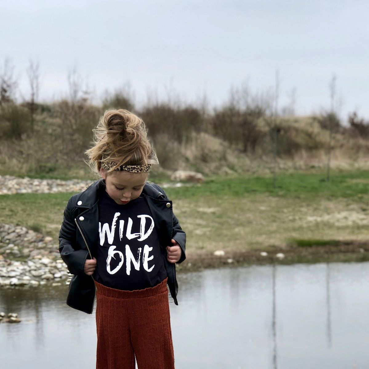 Wild One Black & White Kids T-Shirt (various sizes) - product images  of