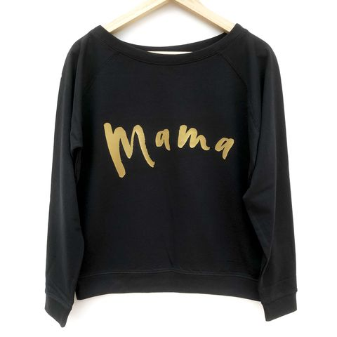 Gold,'Mama',Women's,Sweatshirt,mama shirt, mum life, new mum, mum clothes, mum gift, womens sweater, womens sweatshirt, womens gym top, ladies pullover, ladies jumper, off the shoulder sweater, ladies sweater, funny womens top, pregnancy reveal, baby shower gift