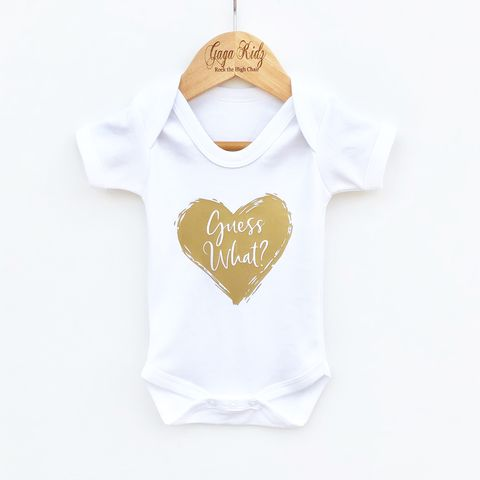 'Guess,What',Baby,Bodysuit,(various,sizes),guess what, new baby, i'm pregnant, baby announcement, baby reveal, baby shower, baby boy reveal, baby girl reveal, baby surprise, baby bodysuit, cute baby grow,