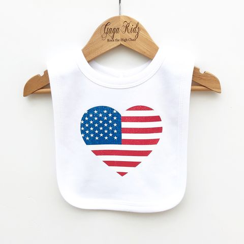 USA,Heart,Baby,Bib,usa heart baby bib, baby american, american flag bib, baby USA, fourth of july, independence day, thanksgiving baby, patriotic baby, cute baby bib, cotton baby bib, cute baby clothes, funny baby clothes, unique baby gifts, baby shower, baby shower gift