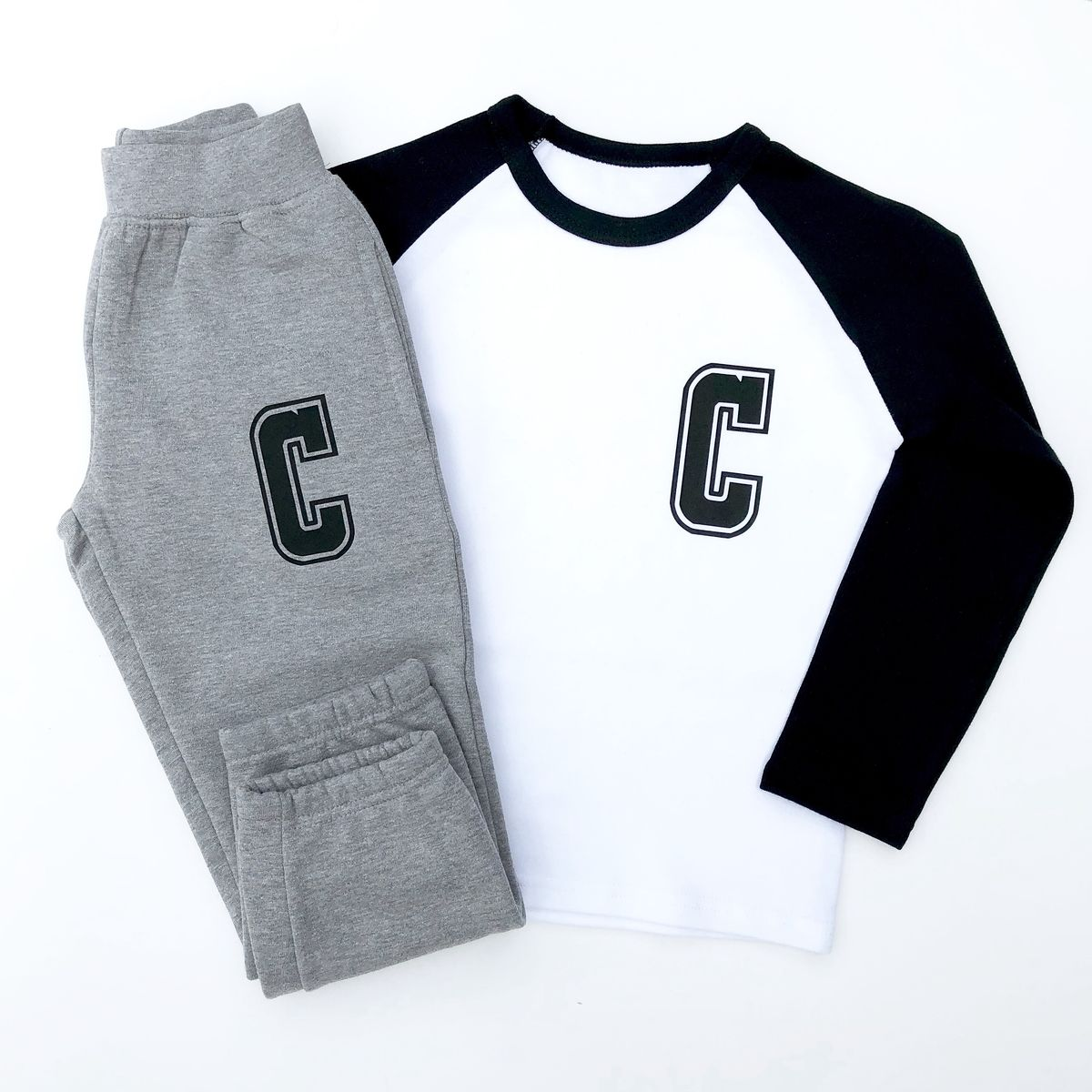 Custom Letter Baseball T-Shirt - product images  of
