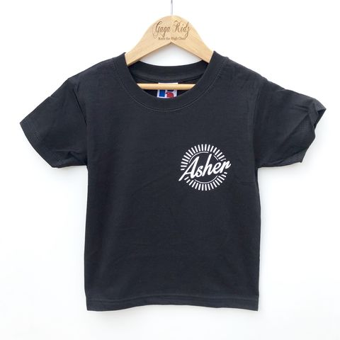 Custom,Kids,Name,Motif,Pocket,Print,Black,&,White,TShirts,(various,sizes),name t-shirt, motif tshirt, baby name shirt, kids name shirt, pocket print tshirt, pocket print motif, baby clothes, kids clothes, toddler clothes, baby tshirt, kids tshirt, children's tshirt, children's clothes,