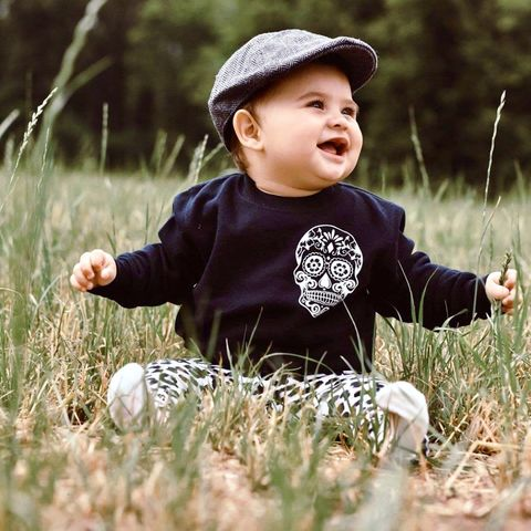 Sugar,Skull,Pocket,Print,Sweatshirt,cool kids sweatshirt, funny kids sweater, pocket print sweater, pocket print jumper, sugar skull jumper, sugar skull sweater, skull sweatshirt, popular kids clothes, wild child, trendy kids jumper, funny baby top, baby clothes, kids clothes, cool toddler