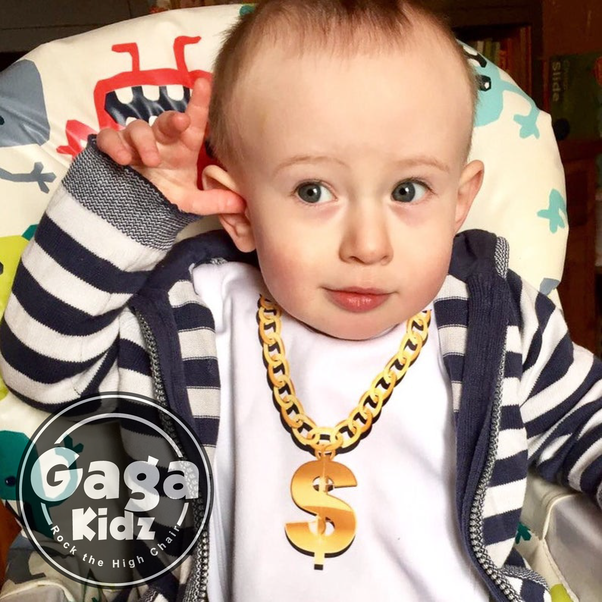 Gold Chain Necklace Baby Bib - product images  of