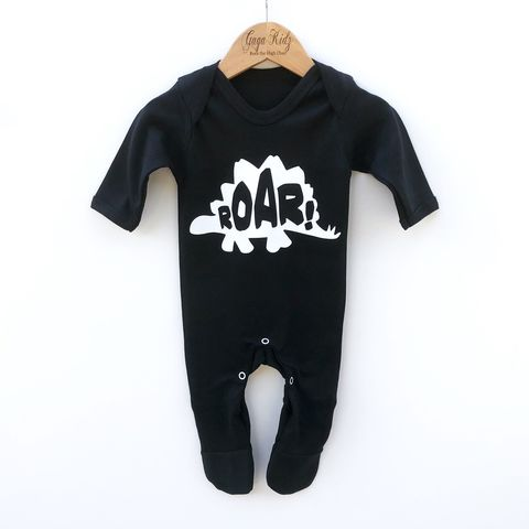 Dinosaur,Black,or,White,Baby,Romper,t-rex, stegosaurus, diplodocus, jurassic, dinosaur, roar, romper, rompers, suit, one piece, baby clothes, baby one piece, baby onesie, toddler onesie, newborn gift, coming home outfit