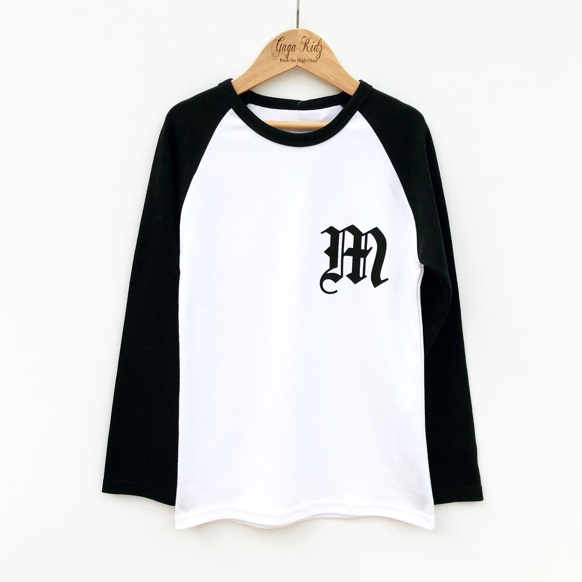 Custom Old English Letter Baseball T-Shirt - product images  of