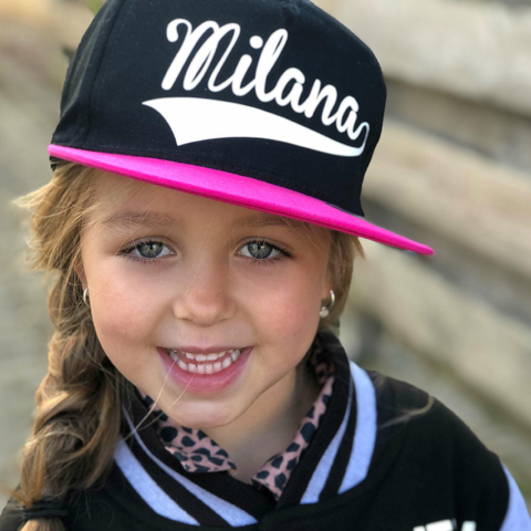 Custom,Name,Snapback,Cap,snap back, snapback cap, baseball cap, youth, kids, children's hat, custom name gift, personalise, personalised, trendy, cool, hipster, trucker, flat bill, summer