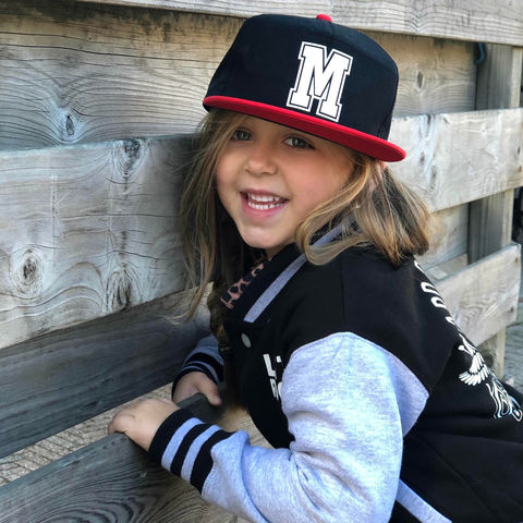 Custom,Letter,Snapback,Cap,snap back, snapback cap, baseball cap, youth, kids, children's hat, infant, age, birthday, custom name, initial, letter, number, gift, personalise, personalised, trendy, cool, hipster, trucker, flat bill, summer