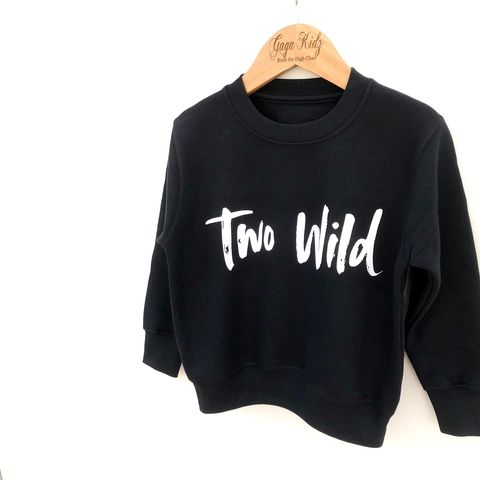 Two,Wild,Birthday,Sweatshirt,toddler sweater, birthday jumper, wild child, kids sweatshirt, kids sweater, crew neck, second birthday top, 2nd birthday outfit, baby sweater, baby sweatshirt, toddler crew neck, 2nd birthday party outfit gift, two wild, too