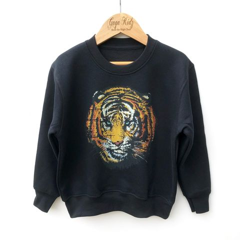 Tiger,Sweatshirt,jungle, begal tiger, animal lover, safari, wild, fierce, big cat, baby, infant, youth, pullover, sweatshirt, kids sweater, toddler crew neck jumper, top, outfit, gift