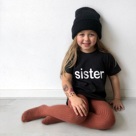 Sister,Black,or,White,T-Shirt,older, younger, sibling set, big sister, big sis, sibling gift, big sister gift, kids clothes, sister t-shirt, bigger sister, promoted to big sister, gender reveal, baby shower,