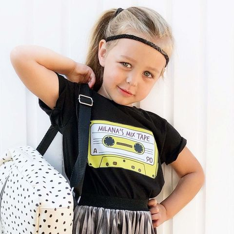 Custom,Mix-Tape,T-Shirt,(various,colours),retro tshirt, cassette shirt, cassette tape, mix tape, custom shirt, my mix tape, personalised shirt, hipster kid, hipster baby, trendy kid, trendy baby, summer shirt, music shirt, kids clothes, baby clothes, toddler shirt