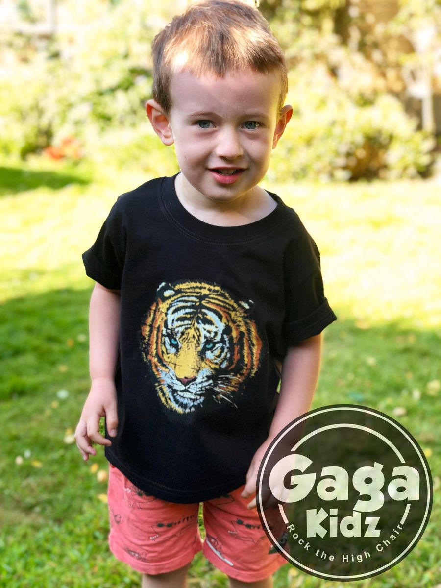 Vintage Tiger Black or White T-Shirt - product images  of