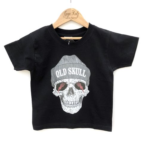 Old,Skull,T-Shirt,horror, old skull, day of the dead, halloween, spooky, creepy, goth, gotic, rock n roll, heavy metal, rocker, kid alternative, funny kids shirt, kids, baby, youth, infant, toddler, trendy t-shirt, shirt, boy, girl, unisex, funny gift, cool
