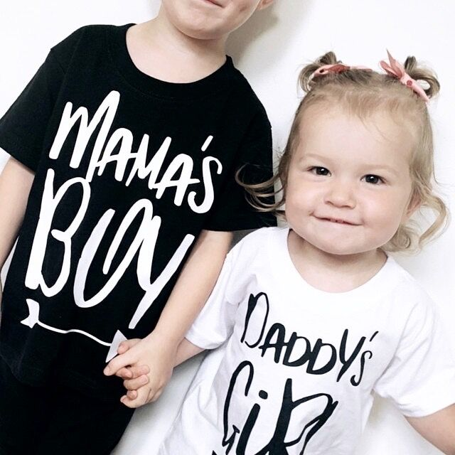 Mama's Boy Black or White T-Shirt - product images  of